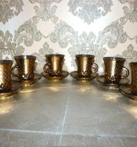 Сервиз чайный с позолотой