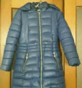 Пальто зимнее на девочку размер 146