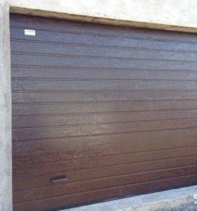 Автоматические ворота на гараж Алютех