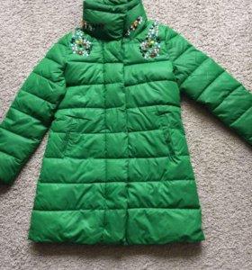 Куртка - Пуховик со стразами