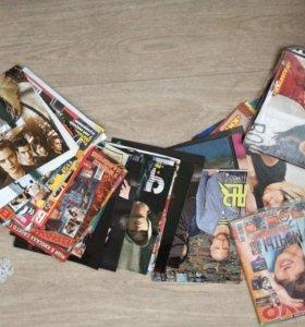 Журналы постеры наклейки