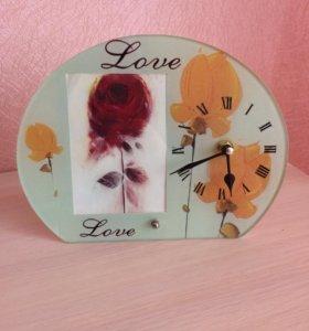 Рамка для фото и часы подарок