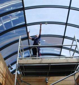 Тонирование бронирование стекол зданий, окон