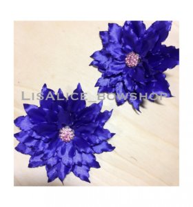 «Хризантема» на резинке, цвет сочный фиолетовый