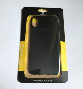 Чехол Cafele для IPhone X чёрный ультратонкий