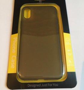 Чехол Cafele для IPhone X матовый полупрозрачный