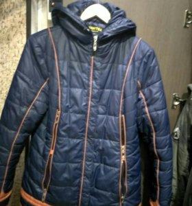 Куртка пуховик 46-48, 50