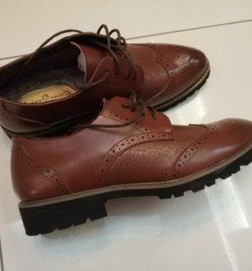 Ботинки зимние мужские новые кожаные