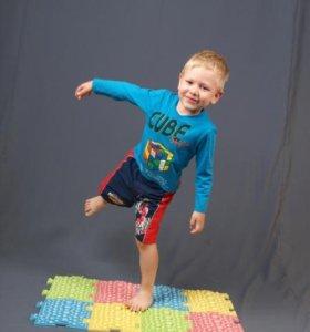 Детский ортопедический массажный коврик (новый)