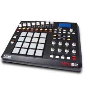 Akai mpd 32 midi-контроллер для сэмплирования