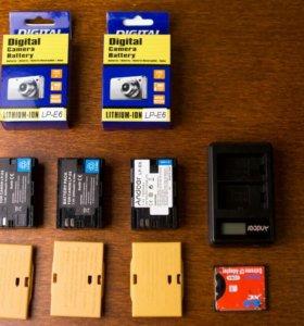 Аккумуляторы LP-E6 и ЗУ для Canon