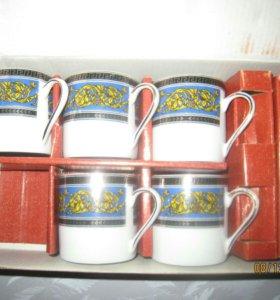 5 чашечек для кофе