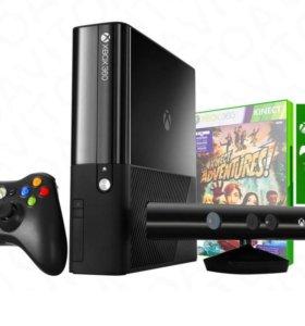 Xbox360,500ГБ+Кинект+2 геймпада безпроводных+игры