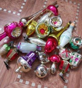 Елочные игрушки советского периода.