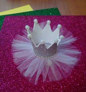 Корона на новый год (на заколке или ободке)