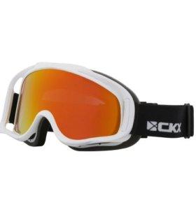 Очки снегоходные CKX Falcon, линза красный revo