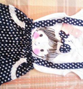 Новое платье!!! имитация двойки!