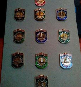 Значки Города Герои Коллекция