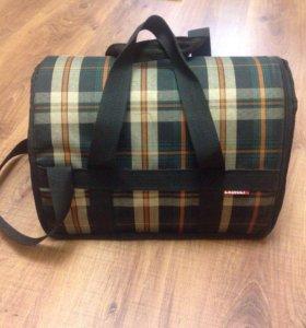 Переноска-сумка для кошек, кроликов + шлейка