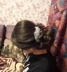 Прически, плетение кос, локоны