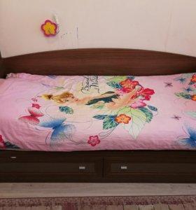 Кровать односпальная Лазурит
