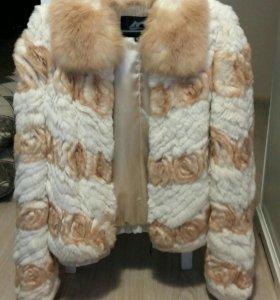 Шуба из шайханского кролика