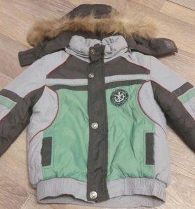 Зимняя куртка с подстежкой + полукомбенизон