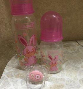 Детские бутылочки и соска
