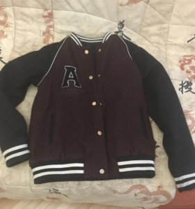 Куртка-Бомбер шерсть pull and bear