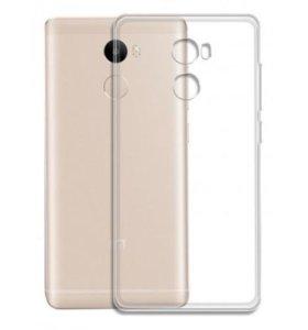 Чехол и стекло прозрачные на Xiaomi Redmi 4/4 PRO