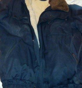 Куртка на натуральном меху р-р 50