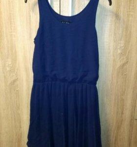 Платье темно синие