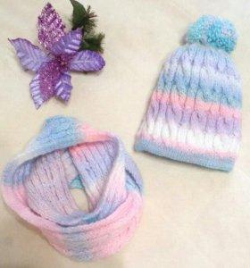 Новый комплект шапка и снуд.👍