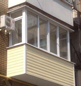 Балкон, стандартный, створки поворотнооткидные