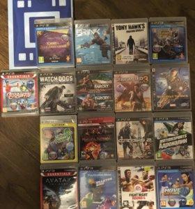 17 дисков с 18 играми PS3 + wonderbook
