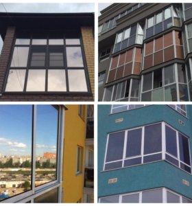 Тонирование бронирование стекол зданий, окон по РФ