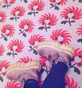 ботинки на платформе,обувь