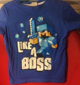 Футболки детские Minecraft цена за 2шт