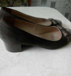 Туфли натуральная замша 40 размер