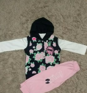 Детский костюм, кофта, комбенизон