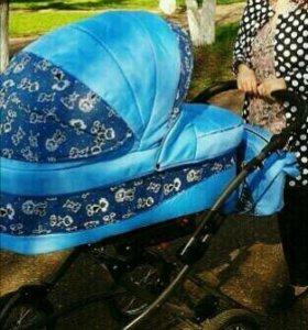 Детская коляска Indigo Blues 2 в 1