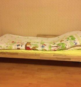 Детская кровать с матрасом IKEA