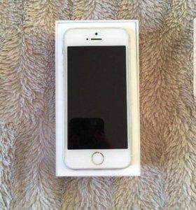 iPhone 5s 16gb белый как новый Ростест
