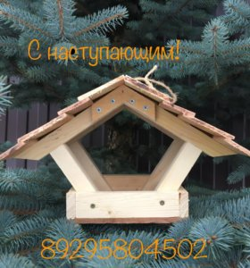 Интересные кормушки из дерева для птиц