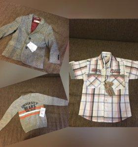 Пиджак, рубашка, джемпер (новые)