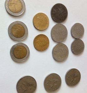 Монеты Италии и Англии