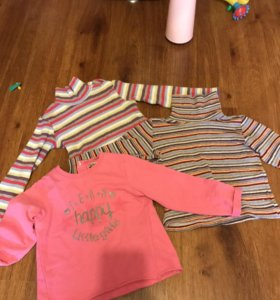 Пакет одежды на девочку 80-86