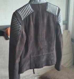 Куртка косуха mango замша