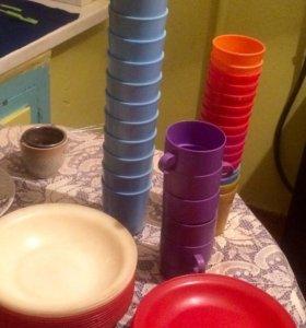 Пластмассовая посуда для пикника
