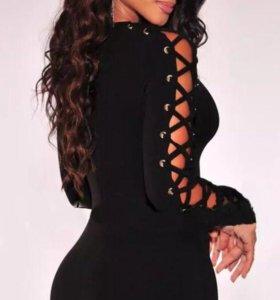 Платье новое на шнуровке